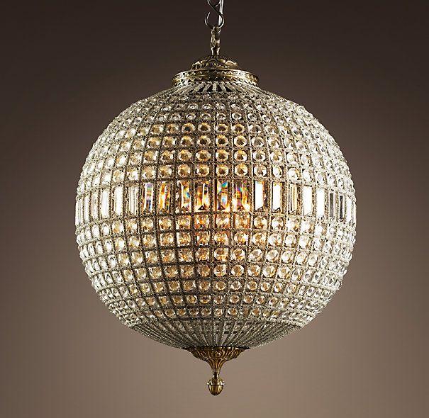 19th C Casbah Crystal Chandelier More like fancy Disco crystal – Chrystal Chandelier