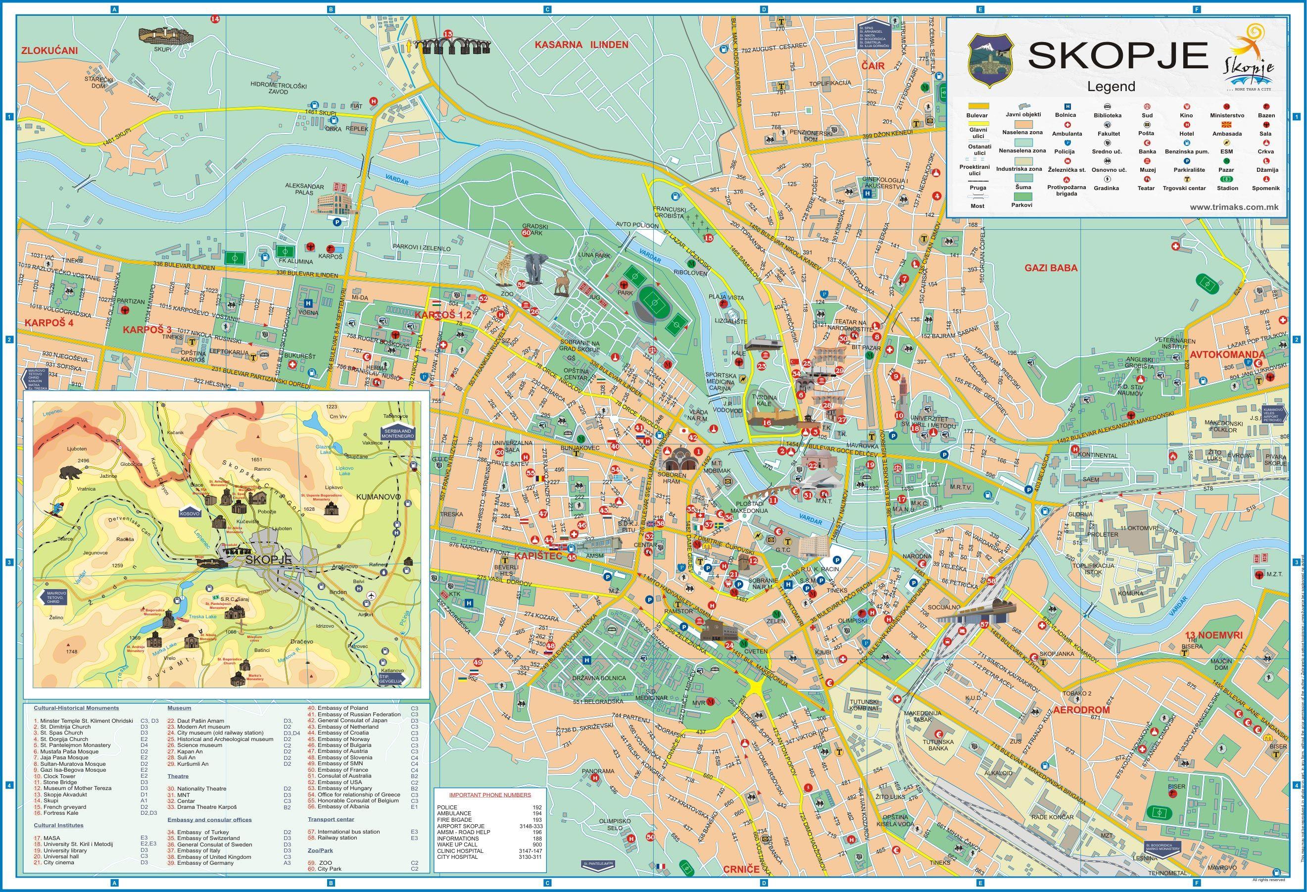 Skopje macedonia maps pinterest macedonia and city gumiabroncs Image collections