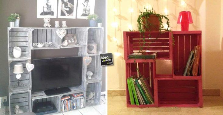 Idee Creative Casa : Le cassette di legno per arredare casa idee creative