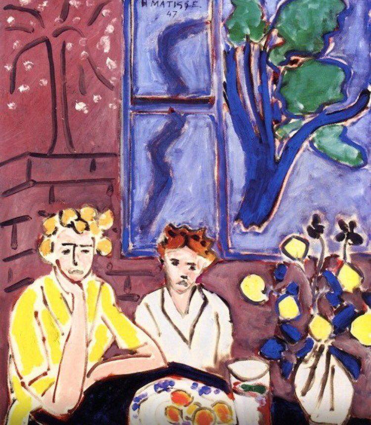 Matisse | Two Figures in Art | Pinterest | Henri matisse, Tela y Arte