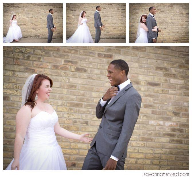 Interracial Wedding Couple Four Months In Interracial Wedding