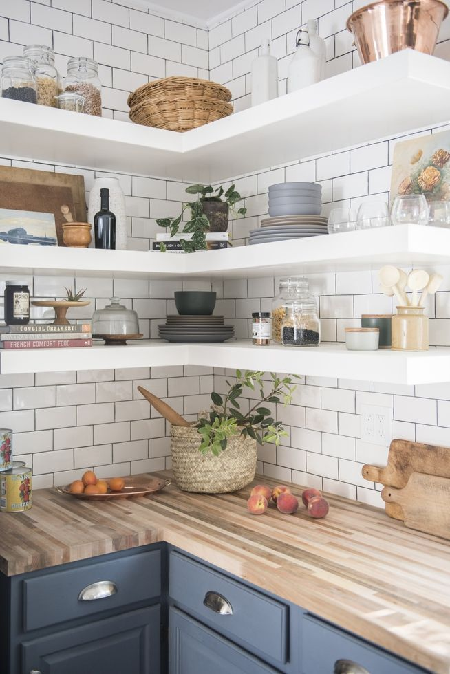 5 Ways to Style Your Kitchen's Open Shelves