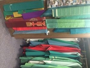 Sacristans is a Ministry full of tender, loving hands that prepare, clean and maintain vestments, vessels purificators, and other altar linens, candles, and candleholders, etc.
