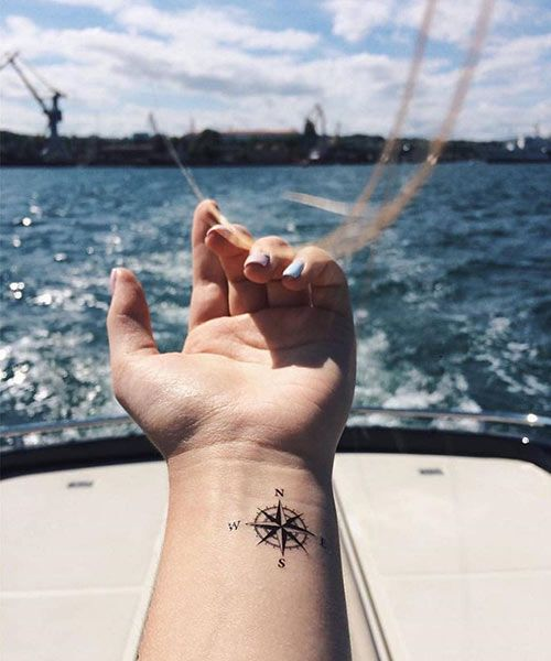 35 Trendy Meaningful Compass Tattoo Designs For Tattoo Lovers – 2019