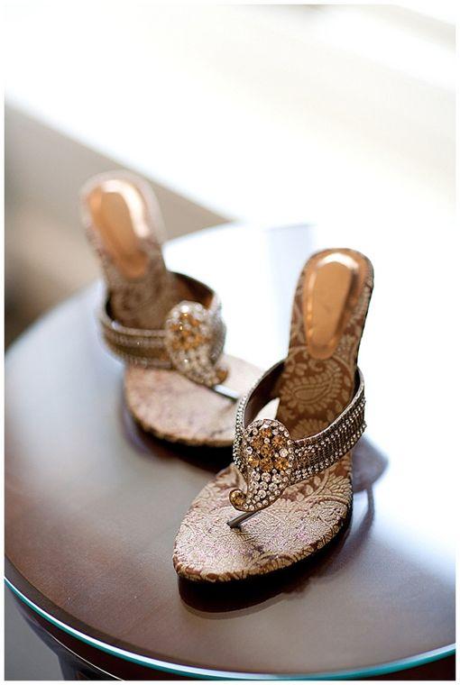 ad7fefecf25 Paisley Indian wedding shoes on IndianWeddingSite.com. Photo by ...
