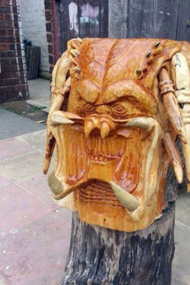 Predator carving