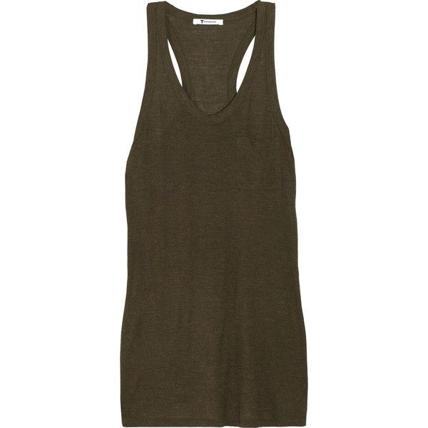 T by Alexander Wang Jersey tank ($46) ❤ liked on Polyvore