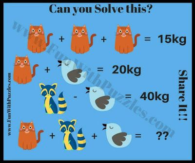 Maths IQ Question to solve questions   Picture Puzzles   Pinterest ...