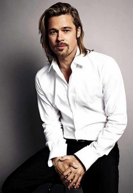 Wondrous 1000 Images About Mens Long Hair Style On Pinterest Brad Pitt Short Hairstyles For Black Women Fulllsitofus