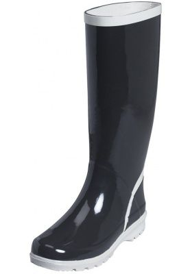Playshoes dames regenlaars zwart grijs (Maat 41, 40, 39
