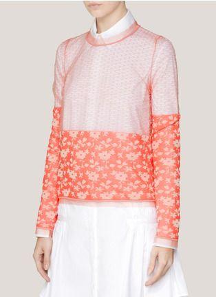Thakoon - Sheer long-sleeve pullover | Pink Sweater Knitwear | Womenswear | Lane Crawford - Shop Designer Brands Online