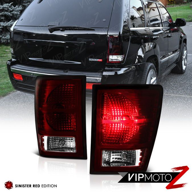 Dark Cherry Red For 2007 2010 Jeep Grand Cherokee Rear Tail Light