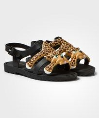 Mini Melissa Black Mini Flox & Jeremy Scott Sandals 51565