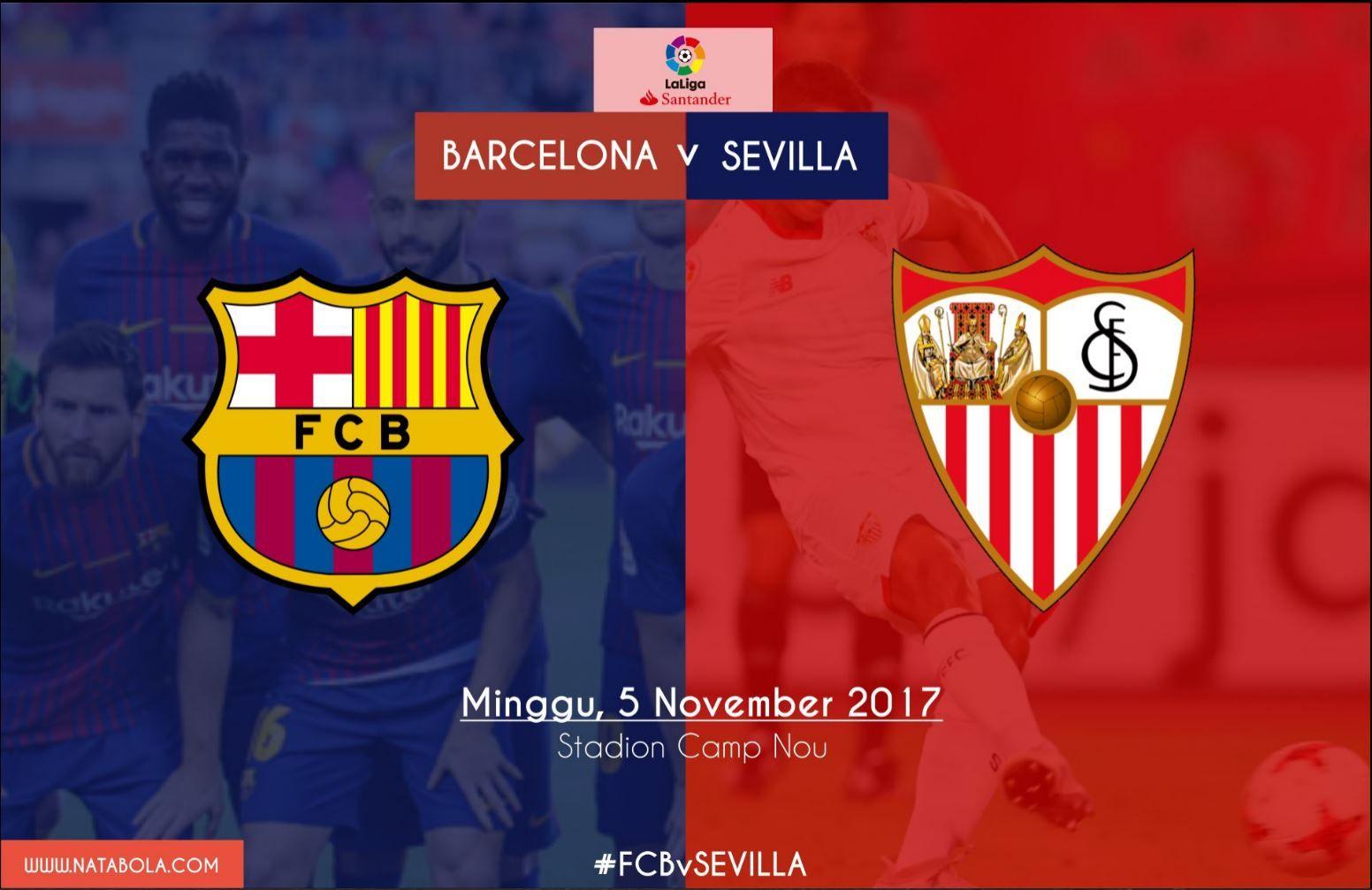 Prediksi Barcelona vs Sevilla 5 November 2017, Jadwal Liga