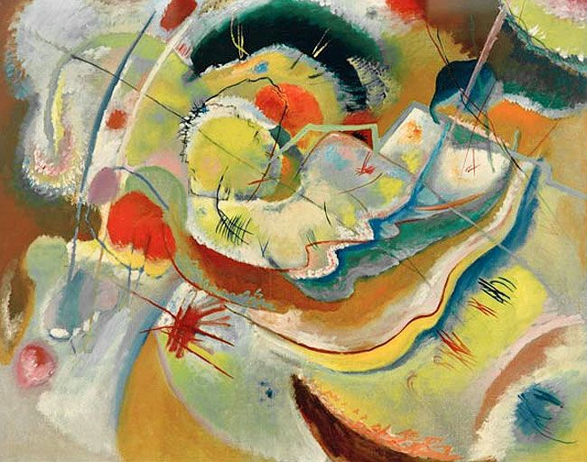 Wassily Kandinsky. Little Painting with Yellow, 1914