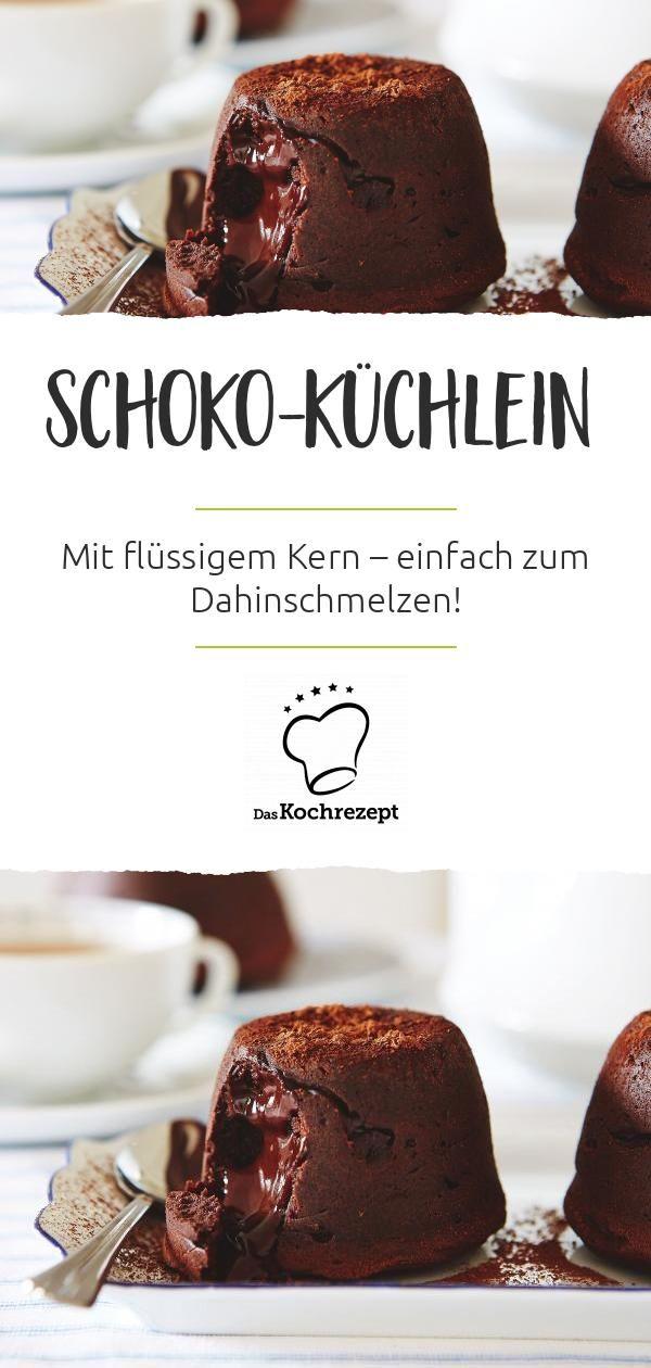 Schoko-Küchlein mit flüssigem Kern