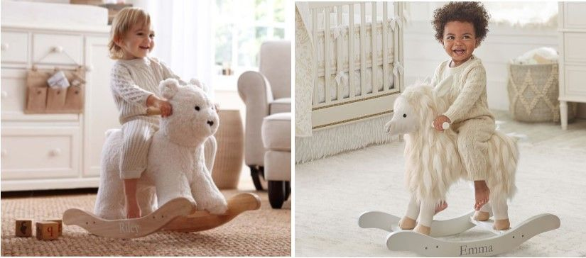 Best personalized baby gifts personalised baby and babies babies the best personalized baby gifts plush animal rocker from pottery barn negle Choice Image