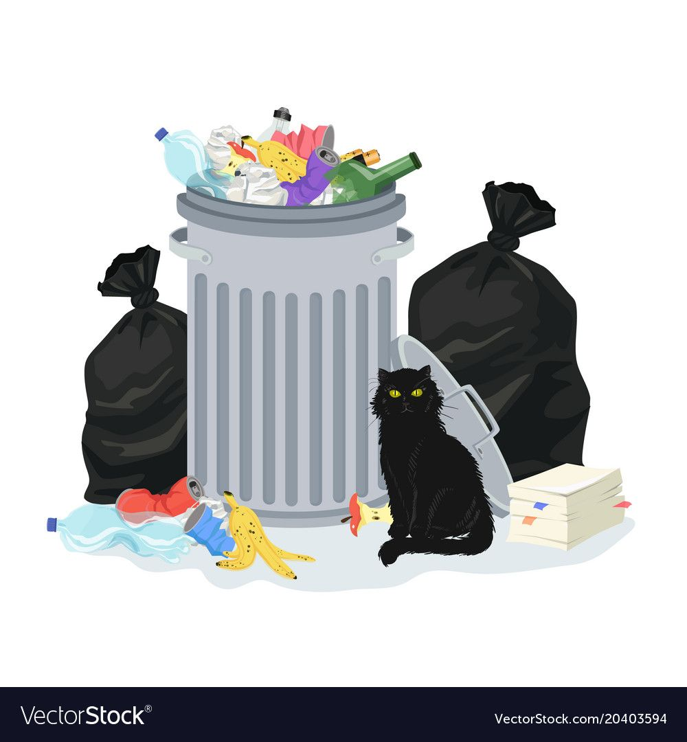 Garbage Stack Royalty Free Vector Image Vectorstock Drawing Bag Illustration Vector Images