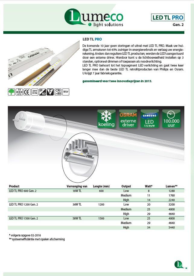 LED TL Pro gen2 leaflet