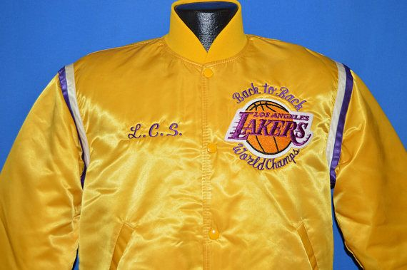80s Los Angeles Lakers Back To Back Starter Jacket Medium