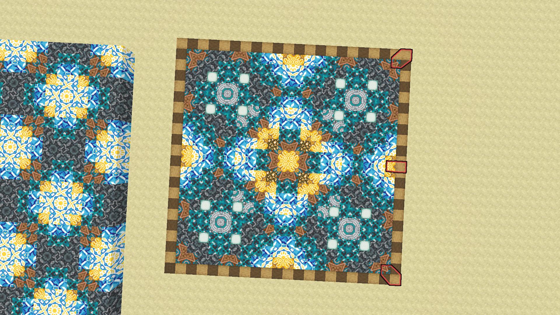 Terracotta Pattern for my ceiling  Minecraft   Minecraft designs ...