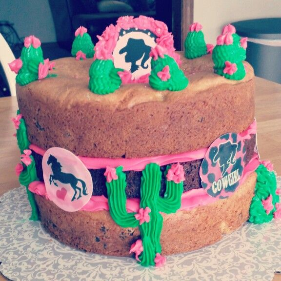 Cowgirl cookie and brownie cake