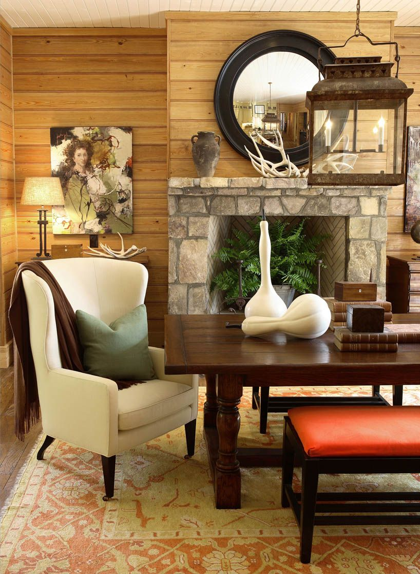 Supersized Full Screen Background Slideshow Jquery Plugin Dining Room Fireplace Country Style Dining Room Interior Design Dining Room