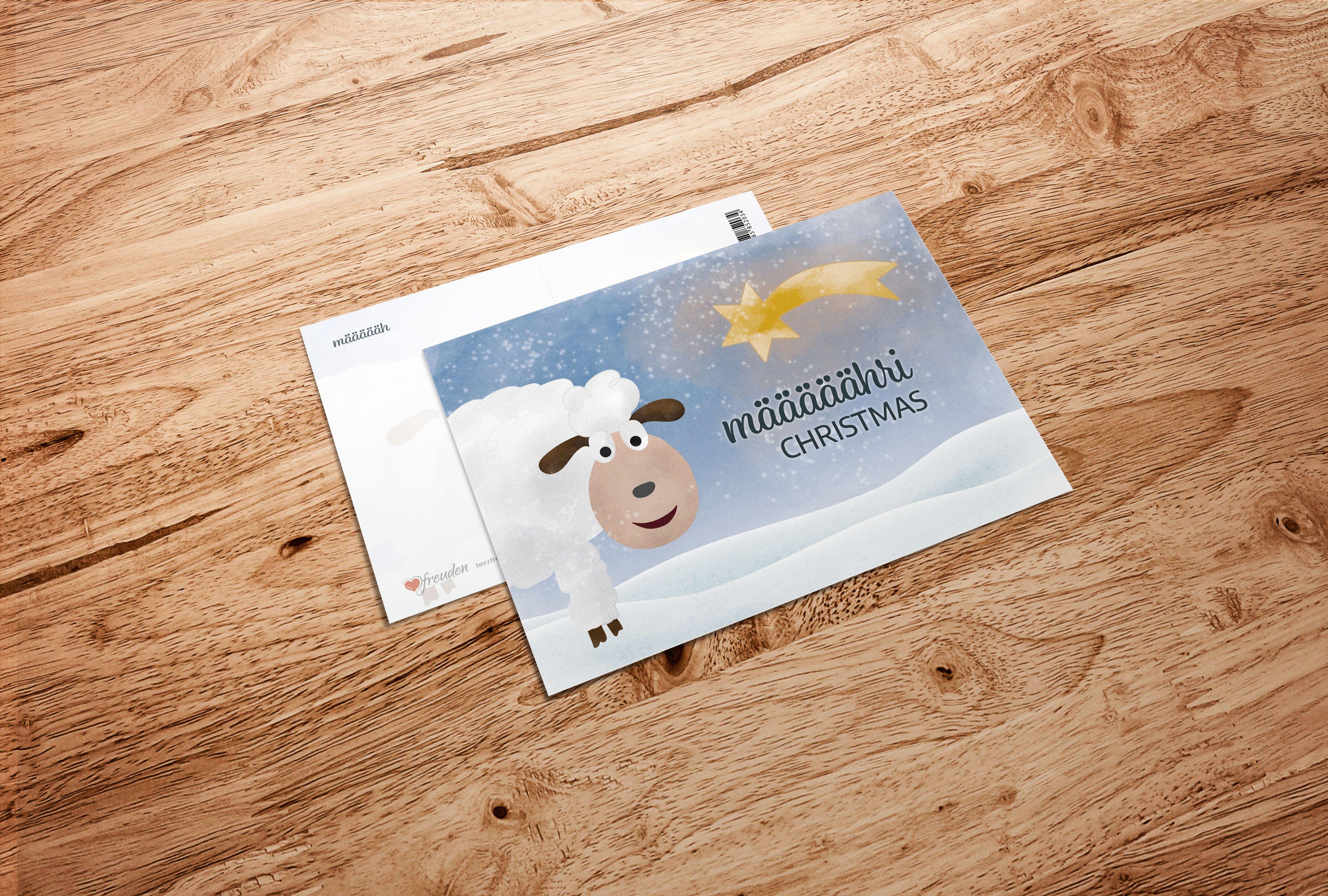 Weihnachtskarte: Määääähri Christmas #postkarte #postkarten ...