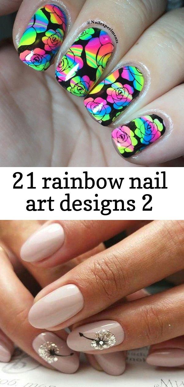 21 rainbow nail art designs 2