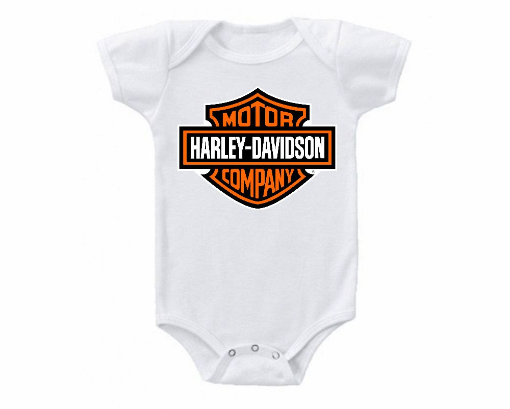 One Pieces 163425 Harley Davidson Motors Onesie Bodysuit Shirt Baby Shower Gift Buy It Now Only 13 95 On Ebay Harley Dav Bodysuit Shirt Onesies Shirts