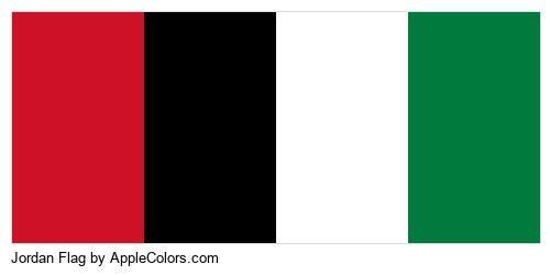 Flag Jordan Country Flags Country #ce1126 #000000 #ffffff #007a3d