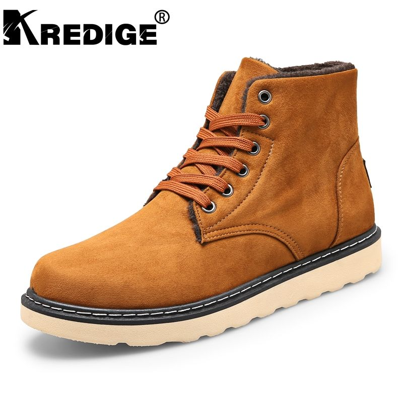 Men Winter Inner Warm Shoes Lace Up Boots