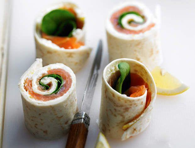 Wrap de saumonDécouvrez la recette du wrap de saumon