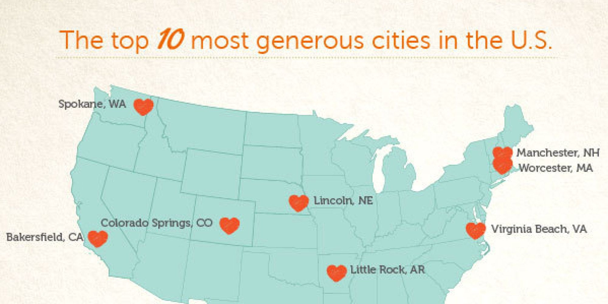 """There are many ways to define generosity, but according to the DIY mavens at Craftsy, there's one true indicator of a person's propensity to give -- their craftiness, of course. In a survey of some 10,000 """"makers"""" in over 700 cities across the country, Craftsy tracked the frequency of and likelihood of gift giving (especially handmade ones), landing on Manchest..."""