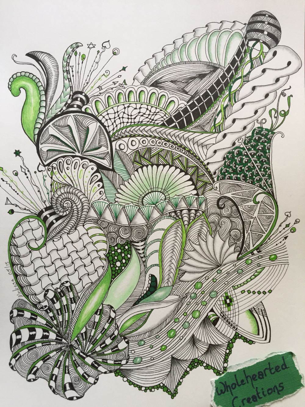 Zen doodle colour - Zia Zentangle Zendoodle Zenspiration Dangles Doodle Colour Green Aquafleur Cadent Funnls Intwine Shattuck Oringel Ribbons Flower
