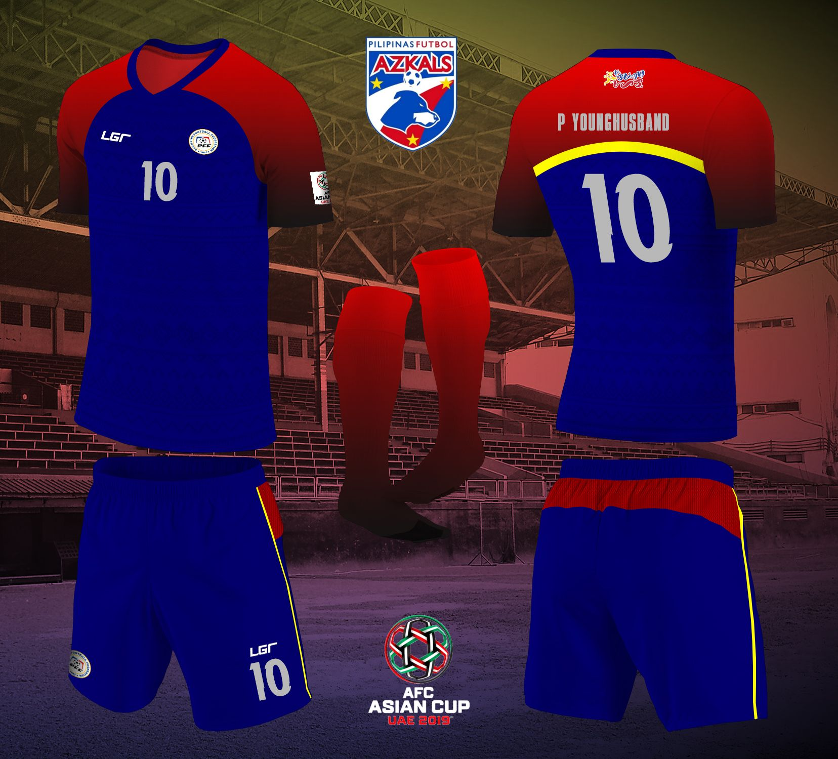 This is a mock up design of the Philippine Azkals kit for the 2019 AFC  Asian Cup in the United Arab Emirates. e19af1e69