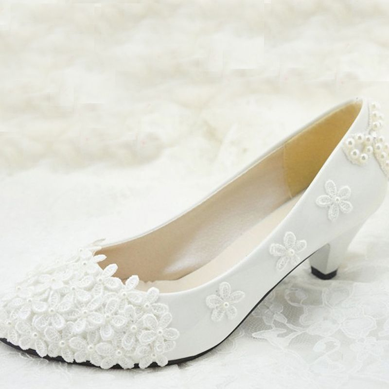 Free Shipping Flower Girl Dress Shoes Bridesmaid Shoes Woman White