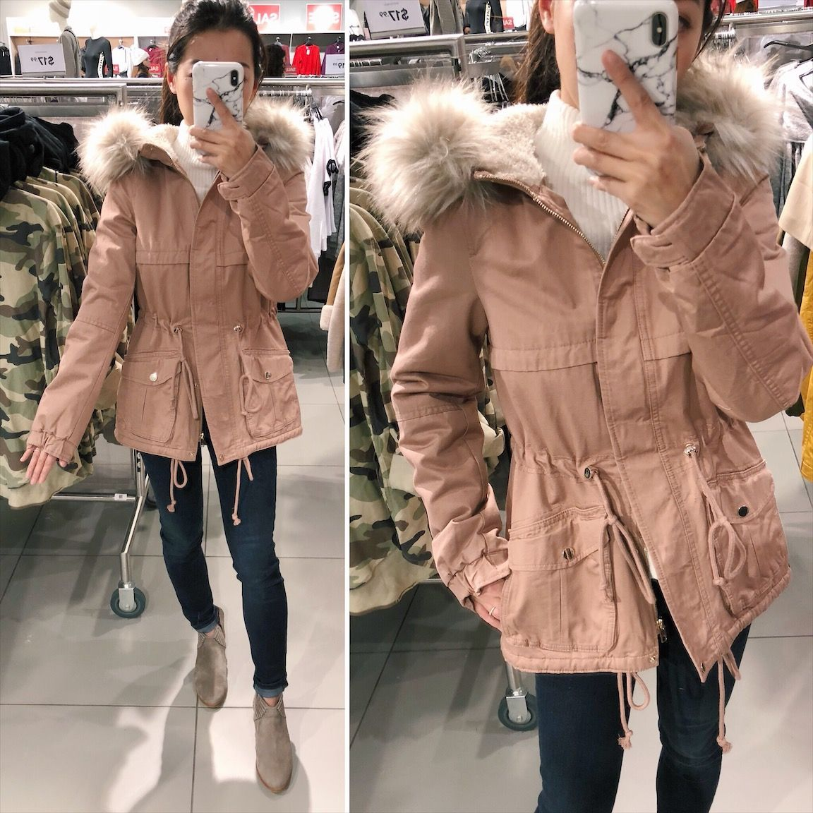 Affordable Parka Jackets For Petite Women Army Jacket Outfits Parka Jacket Outfit Parka Coat Outfit [ 1152 x 1152 Pixel ]