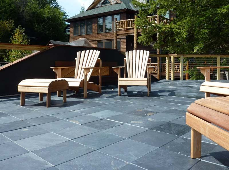 Cover Your Deck With Elegant Interlocking Slate DEck Tiles That Install In  Just Minutes