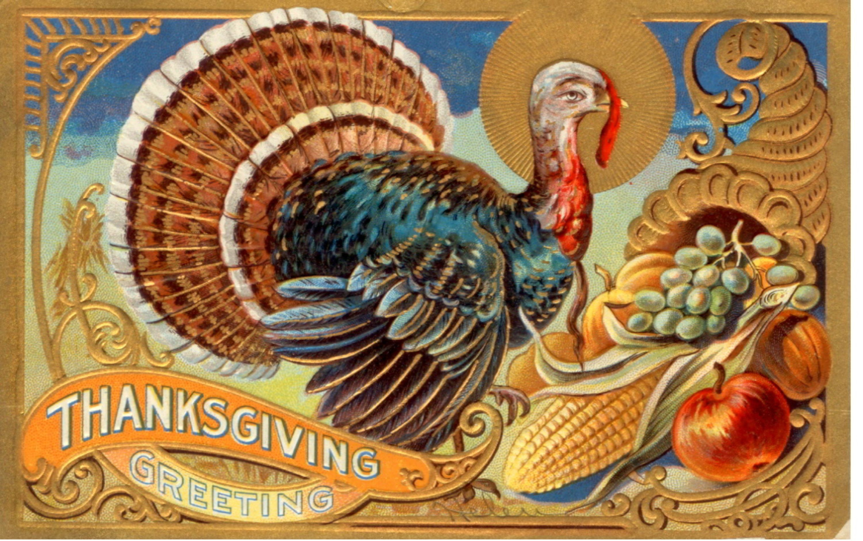 34 Vintage Thanksgiving Postcards Free