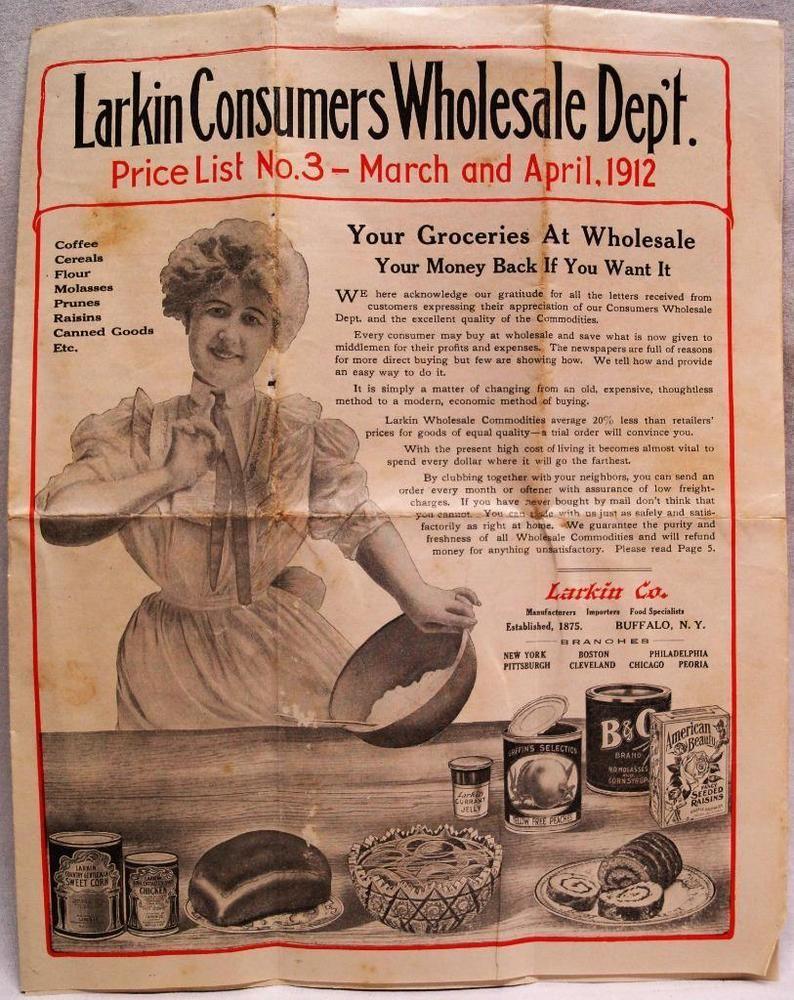 LARKIN COMPANY WHOLESALE GROCERIES FOOD PRICE LIST NO 3