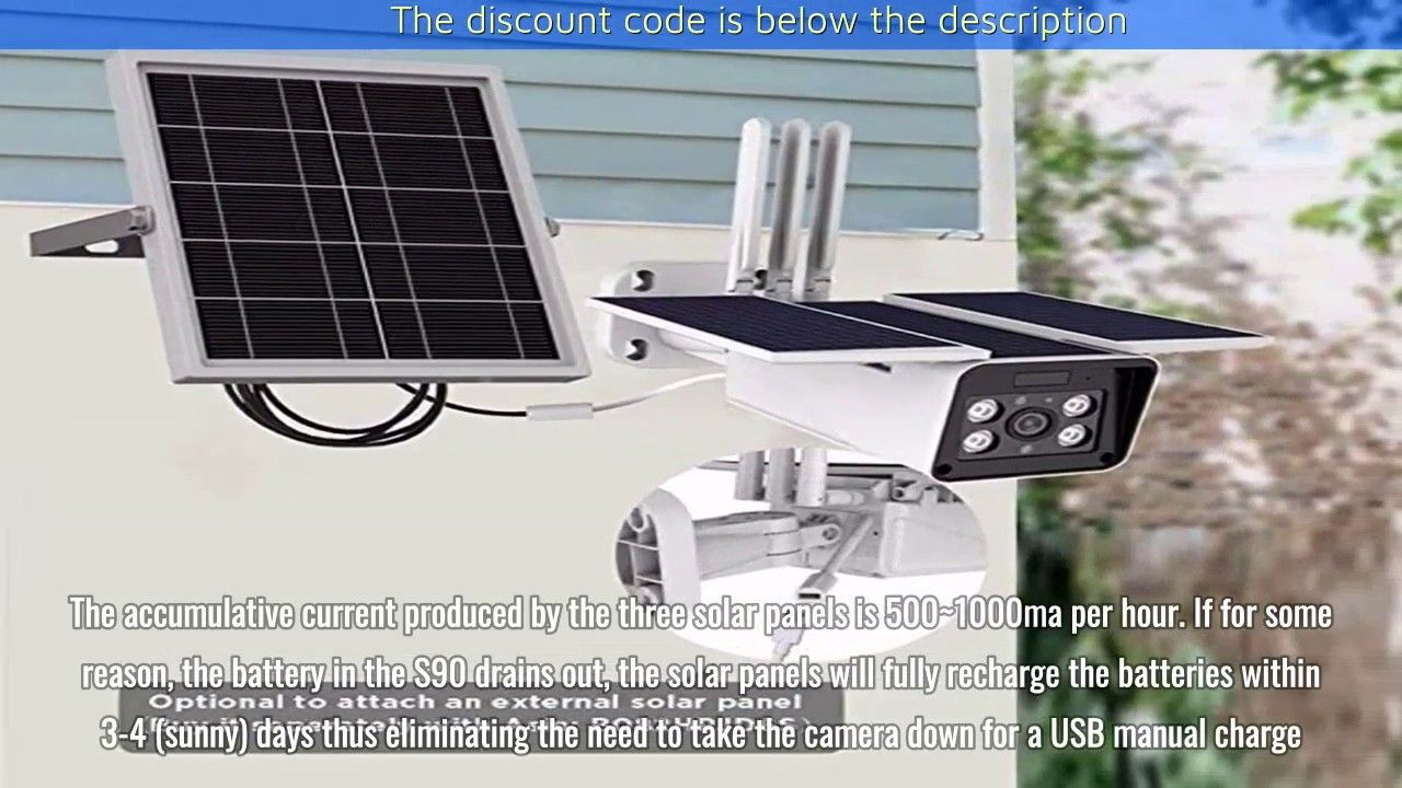 Outdoor Home Security Solar Battery Camera Soliom S90 Pro 1080p Solar Battery Home Security Solar