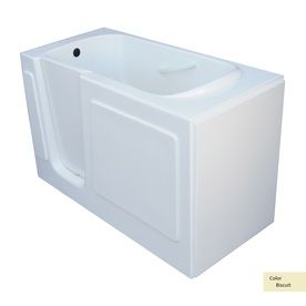 This Biscuit Walk In Soaking Tub Can Be Installed In A Corner Or