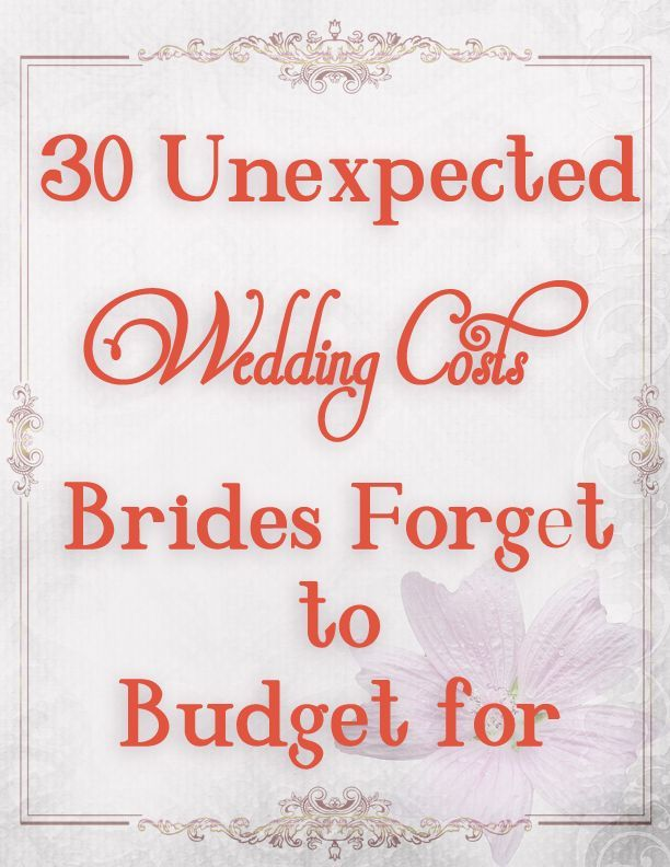 wedding budget ideas don t forget these when planning your wedding