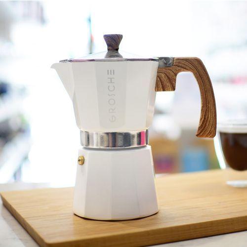 White 9-cup Milano Stovetop Espresso Maker #espressomaker