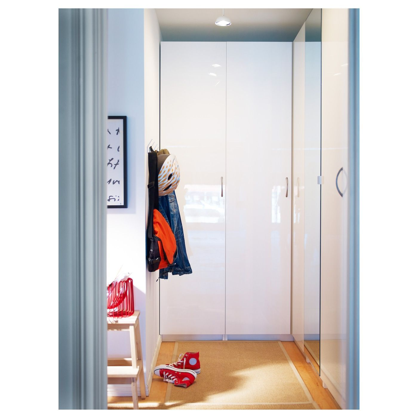 IKEA FARDAL Door with hinges (2020) High gloss white