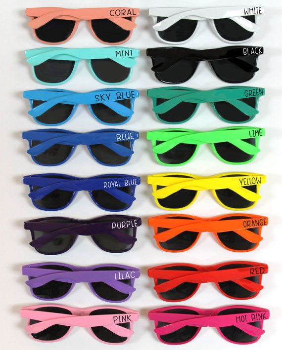 a9514a8b379c Personalized Sunglasses Wedding Favors by TheGlassHeartCo on Etsy LOOKS A  LITTLE PRICEY