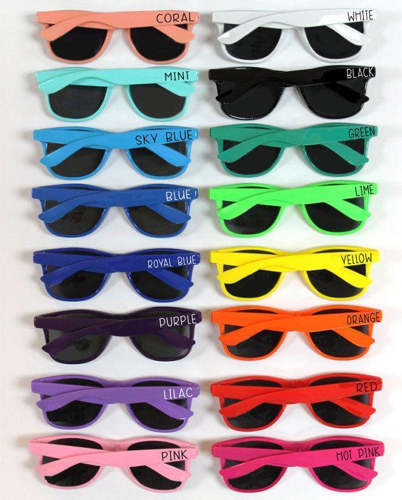 Personalized Sunglasses, Wedding Favors, Bachelorette Gifts, Bachelorette Party…