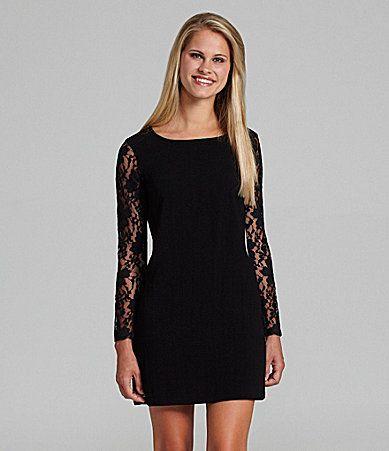 0b26060a3f3 BCBGeneration Black Lace Dress  Dillards Christmas party