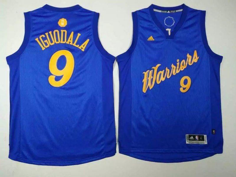 Warriors 9 Andre Iguodala Blue 2016 Christmas Day Swingman Jersey ... 7e88db85b